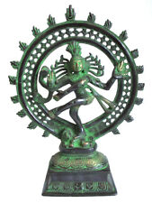 SHIVA NATRAJA Statue Gott des Tanzes Messing Hinduismus H=28,5cm Shiwa Natrasch