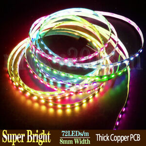 Ultra Bright 5M WS2811 5050 RGB LED Strip Light 360LEDs 8mm Width Addressable