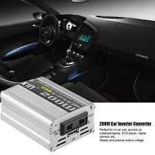 200W Car Power Inverter Converter DC 12V to AC 220V Modified Sine Wave Power