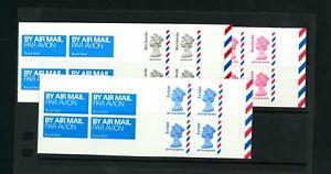 Machin Overseas  Self-Adhesive Stamp Booklets  (3)    (Au052)