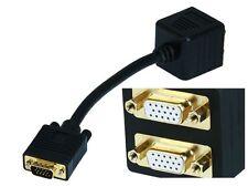 Video Splitter - VGA(HD15) M to VGA(HD15) F X 2 (1 PC to 2 Monitors)  2679