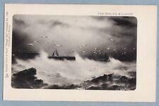 TUCK'S POSTCARD 1384 - THE RAGING BILLOWS 'ROUGH SEA'   - Unposted Antique Card