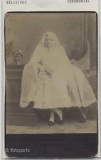 Antique cabinet photo Girl in dress Religious Ceremonial et kingston ontario