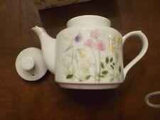 Mib the teapot Shufford Tivoli white colorful teapot purple yellow soft pink new