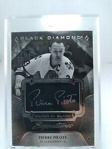 Pierre Pilote 2017-18 Upper Deck Black Diamond Auto #63/99 Blackhawks NHL HOF