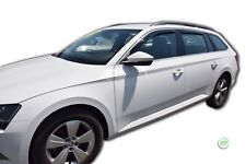 DSK28347 SKODA SUPERB mk3 ESTATE 5DOOR  2015-up WIND DEFLECTORS 4pc HEKO TINTED