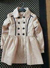 Gorgeous DESIGNER Pink Dotty Spotty Frock Coat Jacket  5-6 Yrs