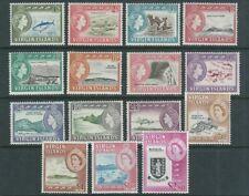VIRGIN ISLANDS 1964 QEII PICTORIALS long set (Scott 144-158) VF MNH