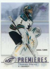 07-08 UPPER DECK ICE ROOKIE RC #141 THOMAS GREISS /1999 SHARKS *48018