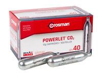 Crosman CO2 Cartridges 40 Count C02 12 Gram FREE SHIPPING 8x5 packs READ
