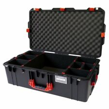 Black & Red Pelican 1615. With TrekPak Dividers.  With wheels.