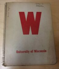 vintage University of Wisconsin student notebook, spring 1953 semester, w. notes