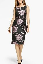 NWT $209 TALBOTS WOMEN'S FLORAL EVENING PARTY HOLIDAY SHIFT DRESS SIZE 24W