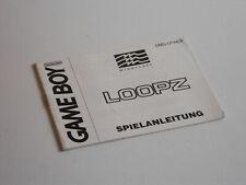 Anleitung zu Loopz für GameBoy