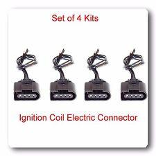 Set 4 Ignition Coil Electric Connector Repair Kit Harness Audi VW Jetta Passat