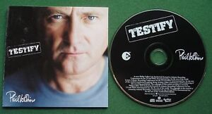 Phil Collins Testify inc You Touch My Heart / Can't Stop Loving You + CD