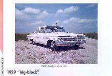 1959 Chevrolet Biscayne Bel Air 348 ci Big Block info/spec/photo production 11x8