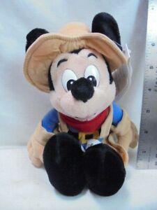 "Walt Disney World Frontierland Cowboy Mickey Mouse Bean Bag 8"" Plush"