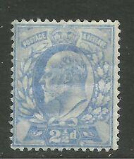 GB 1902 - 10 KEV11 2 1/2d Blue  Umm Wmk 49  P14.(M97 )