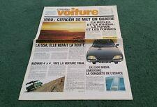 "1980 CITROEN ""VOITURE"" Français Gamme brochure 2CV 2CV6 MEHARI VISA GSA GS BX LNA"