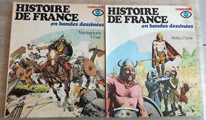 EO  Histoire de France en bandes dessinées Larousse souple n°1 et 2