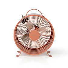 Nedis 9 Inch / 25cm Retro Table Desk Fan 2 Speed Metal with Handle - Pink