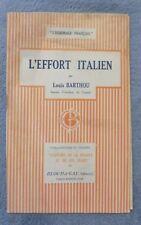 Barthou Louis L'Hommage Français  L'Effort Italien première guerre mondiale 1917