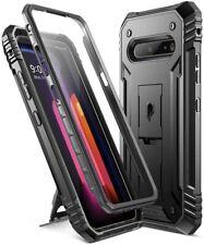 LG V60 ThinQ Case [con Kick-Stand] Poetic De Doble Capa a Prueba de impactos Cubierta Negro