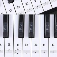 Removable Musical Piano Stickers Decal For 88/61/54/49 Keyboards Black And White