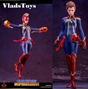 Captain Marvel Universe Superhuman 1/6 Action Figure w/2 heads ACPLAY ATX051 USA