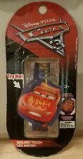New Disney Pixar Cars 3 Molded Touch LED Light up Kids a Wrist Watch