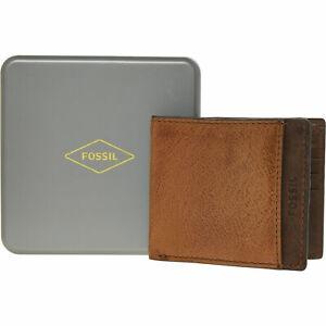 bnwt Lot of 4 New Men/'s Bi-fold Leather Wallet Brown unbranded billfold wallet