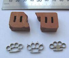 1:6 scale knuckles metal set of 3