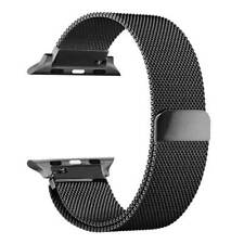 Magnetic Milanese Mesh Loop Band Bracelet For Apple Watch Black 42mm