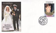 (21273) Nukufetau-Tuvalu FDC Prince Andrew Fergie Royal Wedding 23 July 1986