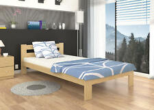 """Single BED Solid Pine Wood 90x200cm (3'x6'7"""") +MATTRESS +FREE DELIVERY"""