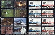 SERIE COMPLETA GOLDEN 437/444  - SCHEDE ANIMALI PARCHI NAZIONALI - NUOVA