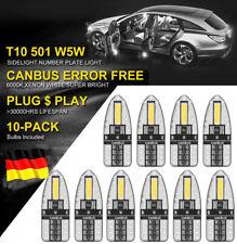 10X SMD LED T10 W 5W Lampe weiß CANBUS Standlicht Innenraum Glassockel 12V Licht