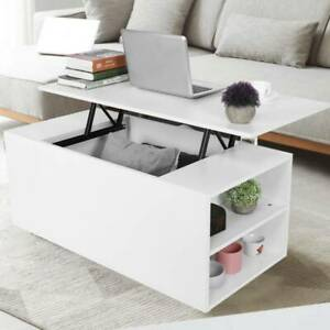 Coffee Table with Storage Lift Top Up Drawer Desk Wooden Living Room Furniture