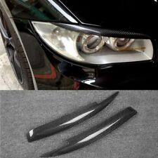 Carbon Fiber Headlight Cover Eyebrows Eyelid Trim Sticker For BMW 1 Series