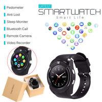 Neuf Bluetooth Smart Montre Watch Android iOS Built in MIC Haut-Parleur V8 Noir