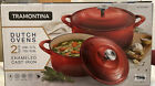 Tramontina Red Enameled Cast Iron Dutch Oven 2-Piece Set (7 qt. and 4 qt.)