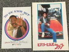 Rare Beverly Hills Cop Chirashi & Japanese Movie Program