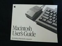 Apple Macintosh User's Guide for desktop Macintosh computers 1992 Vintage Manual