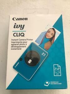 Canon Ivy Cliq instant camera printer Color Seaside Blue Free Shipping