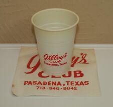 GILLEY'S Club Disposable 7 oz Cup & Cocktail Napkin Johnny Lee's TX Urban Cowboy