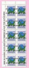 CANADA 1978 French Margin Block of 10 - 1c. FLOWER DEFINITIVE Precancels MNH