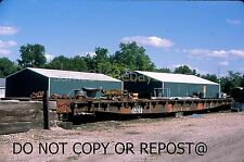 ORIGINAL SLIDE ILLINOIS CENTRAL RAILROAD FLATCAR 62653 CLINTON IL 2017