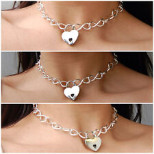 Eternity 925 Sterling Silver Chain Locking BDSM Slave sub pet Bondage Day Collar