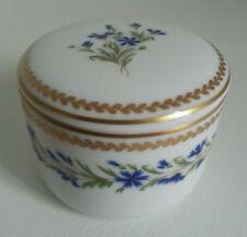 JOLIE BOITE porcelaine ANCIENNE MANUFACTURE ROYALE LIMOGES Décor Barbeaux
